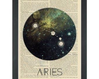 Zodiac Aries Dictionary Art Print
