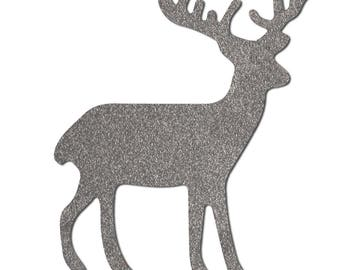 reflective iron-non reindeer, moose , iron-on reflective patch for kids clothing, for runners oder cyclists