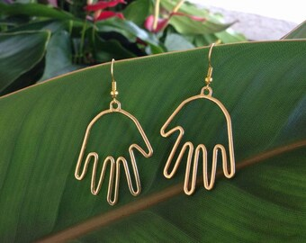 Picasso Hand Wire Earrings With A FREE GIFT BOX Ready To Give