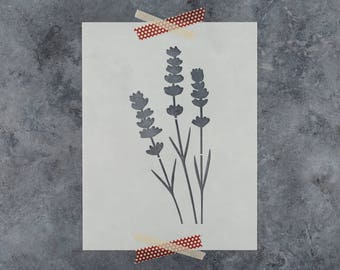 Lavender Stencil - Reusable DIY Craft Stencils of a Lavender Flower