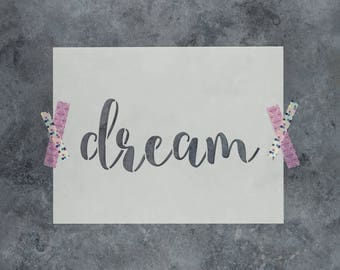 "Dream Stencil - Reusable DIY Craft Stencils of the Word ""Dream"""