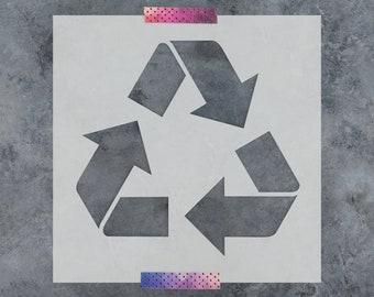 Recycle Stencil - Reusable DIY Craft Stencils of Recycling Symbol
