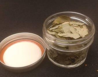 4 Ounce Jar Of Dried Blueberry Leaf