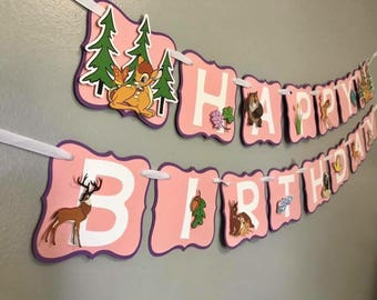 Bambi Birthday Banner / Bambi Cupcake Toppers / Please Read Item Details