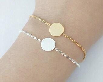 SALE! Emma bracelet plated gold 18K round shape chic woman minimalist modern jewelry