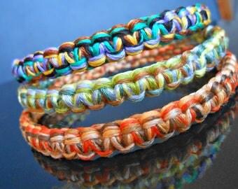 Trio of woven macrame Bracelets