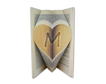 Boyfriend Christmas Gift, Custom initial folded into the pages of a book, Christmas gift ideas, Christmas gifts for friends, Gifts for dad