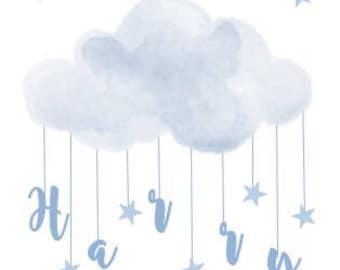 Personalised Cloud Name Print