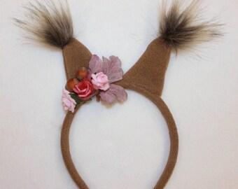 Squirrel headband/ Kids brown squirrel costume/brown squirrel dress up/ handmade costume