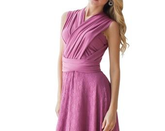 Full-Length Multiway Dress,Dusty Rose Multiway Dress,Infinity Dress,Long Multiway Dress, Prom Dress Party Dress, Mauve Dress