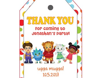Daniel tigers Thank you Tags customizable, Daniel tiger Thank you Tags, Printable Daniel tiger party tags