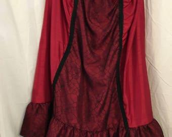 Steam punk spider queen plus size costume-high-low skirt, corset top, shrug, hat, necklace sz-16W, 18W, 1X