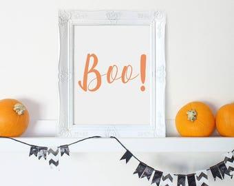 Halloween Printable, Boo Print, Halloween Sign, Halloween Decor, Halloween Art, Printable Halloween, Boo Sign Printable, Boo Sign Halloween
