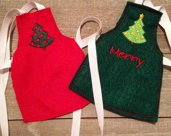 Elf or 12 inch doll apron