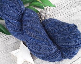 "Handspun Yarn - merino silk - lace - ""Enzian II"" - 560yds/3,56oz - 2ply"