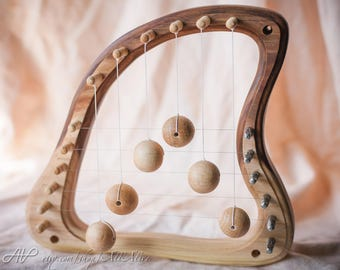 Door Harp - Unique shape design - Natural style - Autonomic music in your home - Home living decor - School, Kindergarten - Waldorf style