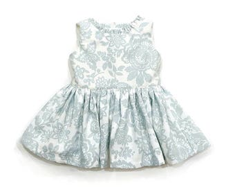 Girls summer dress, little girl dress,baby girl dress, floral dress, flower dress, summer dress, baby shower gift, ruffle dress