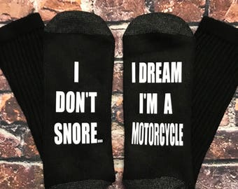 Snore gag gift, I Don't Snore I dream I'm a Motorcycle, Harley inspired gift, Motorcycle gift, Suzuki Sport E101