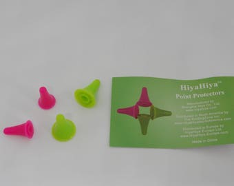 HiyaHiya Classic Point Protectors Pack of 4 Green and Pink Small and Large