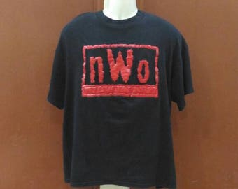 Vintage 90s Nwo new world order wrestling Shirt Large Size