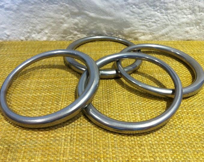 Vintage German 4 piece sport rings stretching rings solid 630 grams