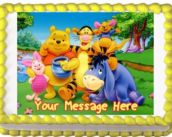 Winnie the Pooh and Friends Edible Cake Topper