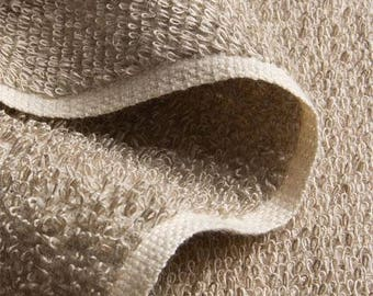 LINEN terry (489 g), unbleached _ fabric by yard