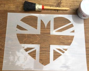 british flag furniture. union jack stencil heart british flag furniture r
