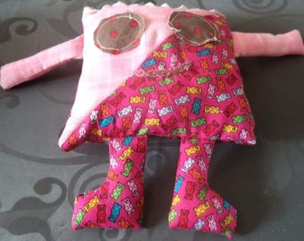 Pink snowman blanket handmade new