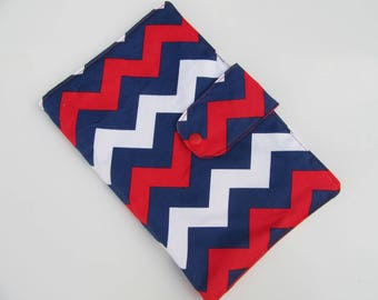 Nappy Wallet - Navy/White/Red Chevron