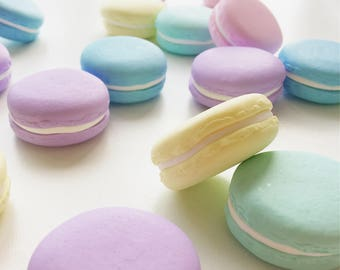 10 Handmade Polymer Clay Pastel Macaron Sewing Pattern Weights | 10 x 30g | Great Gift for Sewists | Ideal for Birthdays