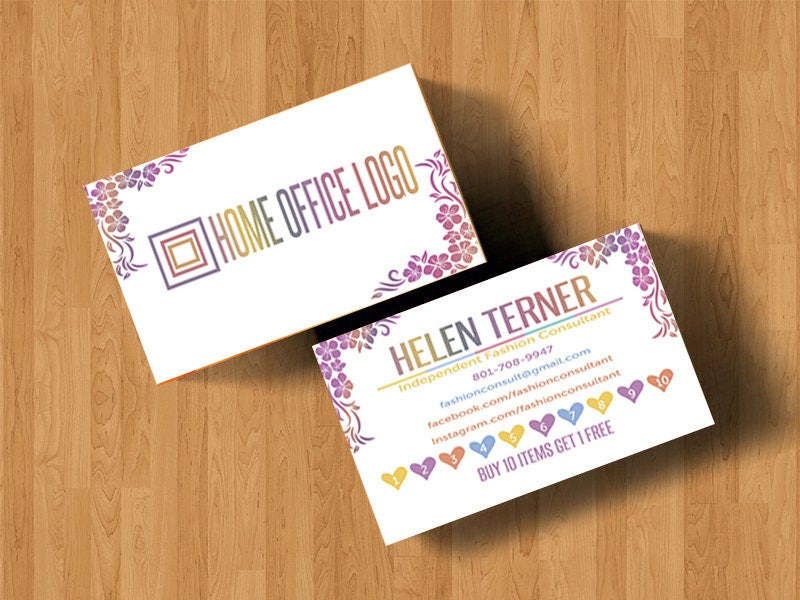 Punch Card Home Office Approved Color & Fonts, Gorizontal, LLRPunch ...