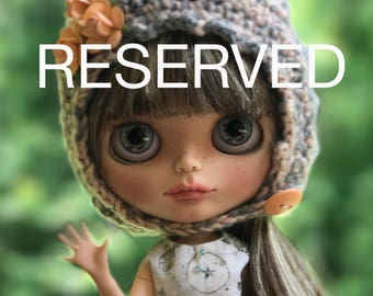 2nd Payment for L.S.: Tabitha, Custom Blythe with Human Hair