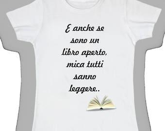Women's Basic t shirt even though I'm an open book
