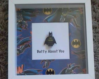 Romantic wedding Batman Batty about you ! Loving anniversary, engagement, valentines ,wedding present for any Batman fan!