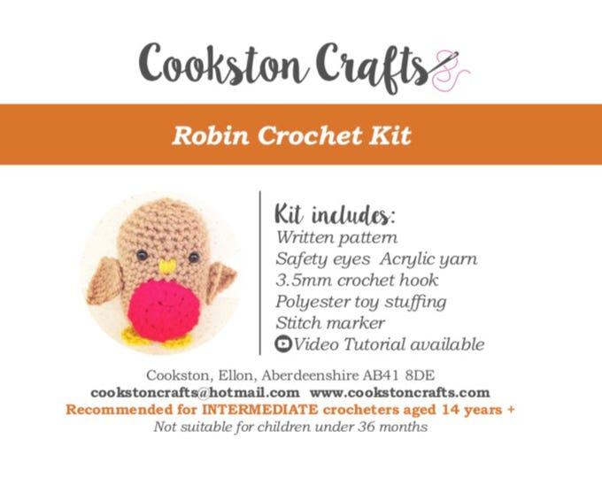 Crochet Kit - Mr Robin - Amigurumi