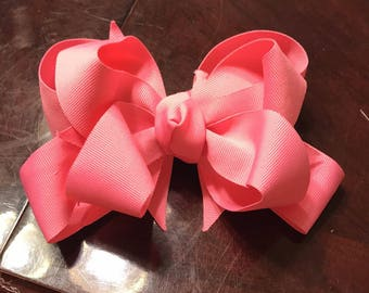 "Baby Pink Bow 4"" 6"" or 8"""