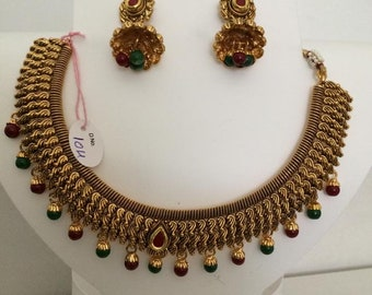 Indian Bollywood  Golden Chokar   bridal Jewelry Set