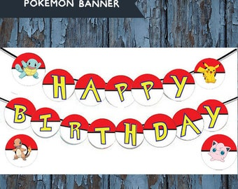Personalized Pokemon Banner