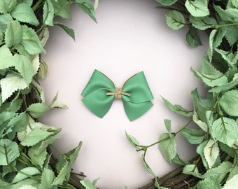 Sage Green Faux Leather Bow {ALICE style} - Easter - Easter 2018