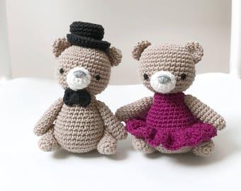 BEAR PAIR crochet amigurumi, baby gift, gift for kids, nursery decoration, baby shower gift, anniversary gift, wedding gift, gift for her