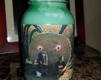 Personalized Photograph Mason Jar Candle