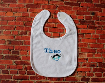 Embroidered bib name
