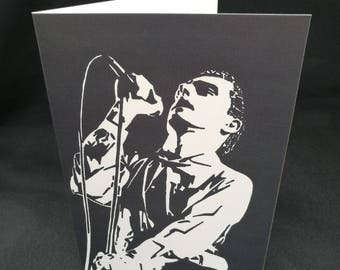 Ian Curtis Greeting Card