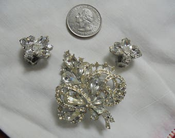 Vintage Earring and Brooch Set