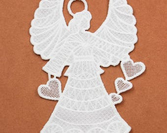 10 Pc/lot Angel Craft Collar Venise Applique Trim Decorated Lace Collar Sewing  l 11cm width x 17cm hight