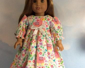 "Little pink llama nightgown fits 18"" American girl doll"