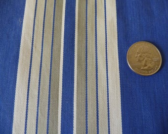 Antique French ticking/ cobalt blue stripe/authentic mattress ticking/