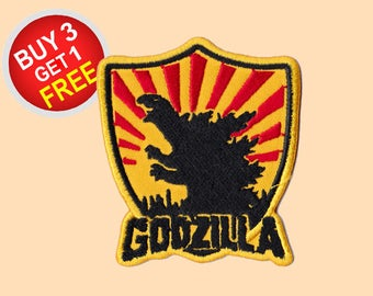 Godzilla Patches Iron On Embroidered Patches Custom Patches