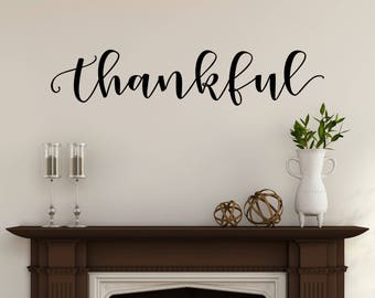 Wall Decor Decals thanksgiving decals | etsy